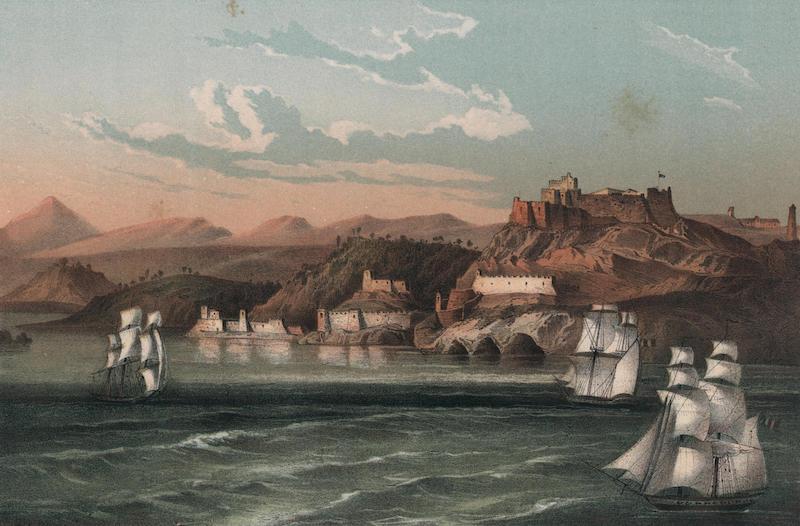 Album Pintoresco de la Isla de Cuba - Morro y entrada del Puerto de Santiago de Cuba (1855)