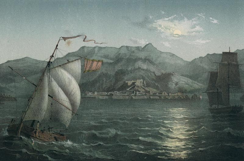 Album Pintoresco de la Isla de Cuba - Vista general de la Ciudad y Montanas de Baracoa (Costa del Norte) (1855)