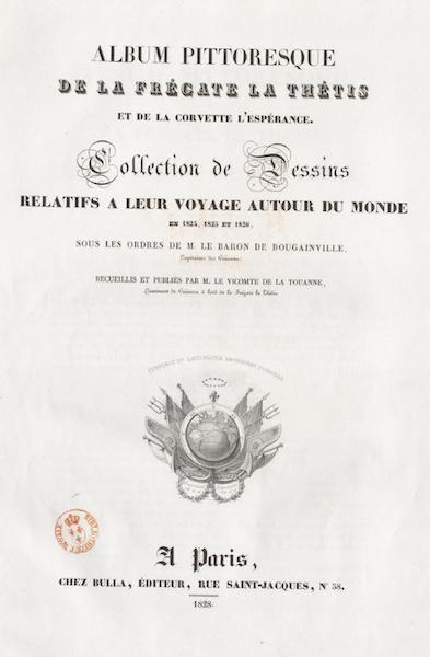 Album Pittoresque de la Fregate La Thetis et de la Corvette L'Esperance - Title Page (1828)