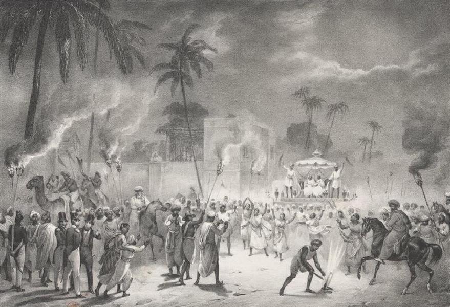 Album Pittoresque de la Fregate La Thetis et de la Corvette L'Esperance - Fete de Mariage. Malabar a Pondichery (Indes orientales, Carnate) (1828)