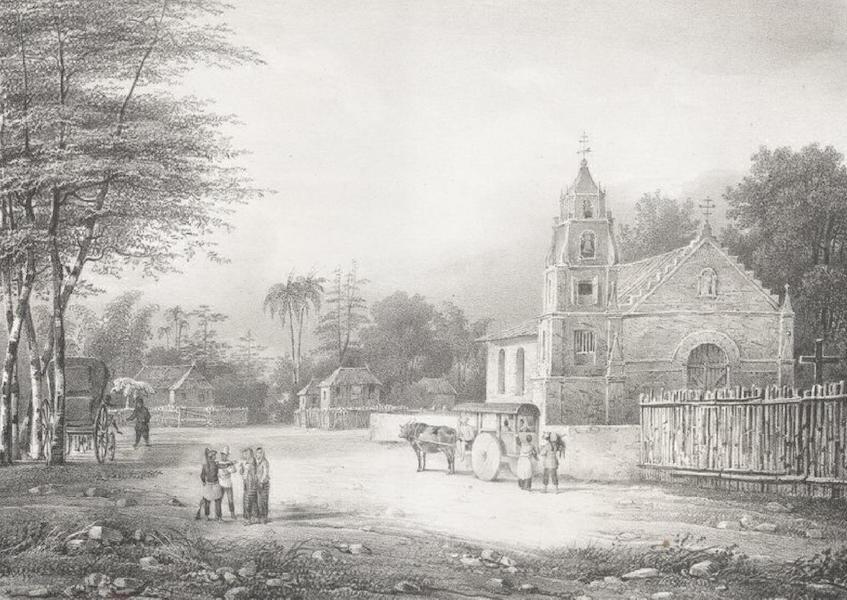 Album Pittoresque de la Fregate La Thetis et de la Corvette L'Esperance - Villiage Jagal de Bacor, sur la route de Cavite a Manille (Ile Lucon, Philippines) (1828)