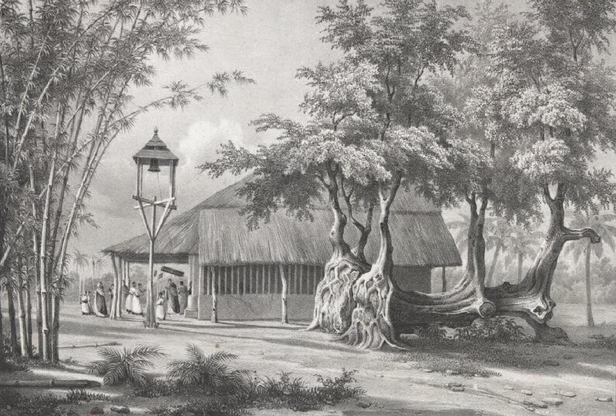 Album Pittoresque de la Fregate La Thetis et de la Corvette L'Esperance - Chapelle rustique de San Miguel, près Bacor (Ile Lucon, Philippines) (1828)