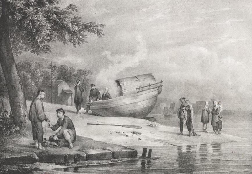 Album Pittoresque de la Fregate La Thetis et de la Corvette L'Esperance - Costumes Chinois et famille de pecheurs a Macao (Chine) (1828)