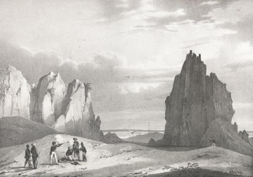 Album Pittoresque de la Fregate La Thetis et de la Corvette L'Esperance - Rochers de marbre a l'extremite-ouest de l'ile d'hoiane près la petite ville de Tourane (Cochinchine) (1828)