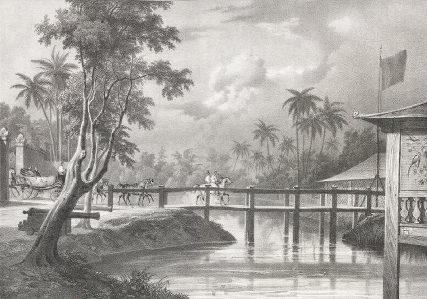 Album Pittoresque de la Fregate La Thetis et de la Corvette L'Esperance - Entree du Palais du Sultan Adden-Engratt, a Madure (Archipel de la Sonde) (1828)