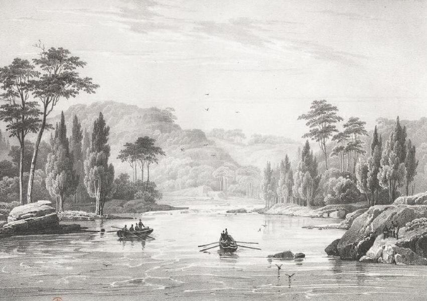 Album Pittoresque de la Fregate La Thetis et de la Corvette L'Esperance - Vue du bassin de Norton, sur le cours de la rivière Nepean (Nouvelle Galles méridionale) (1828)