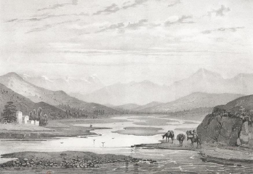 Album Pittoresque de la Fregate La Thetis et de la Corvette L'Esperance - Le Vallon du Rio Quile, a huit lieues au nord de Valparaiso (Chili) (1828)