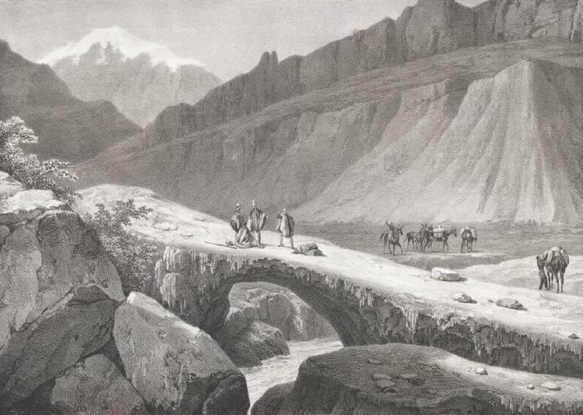 Album Pittoresque de la Fregate La Thetis et de la Corvette L'Esperance - Le Pont de l'Inca sur le passage de Santiago de Chili a Mendoza (Cordiliere des Andes) (1828)
