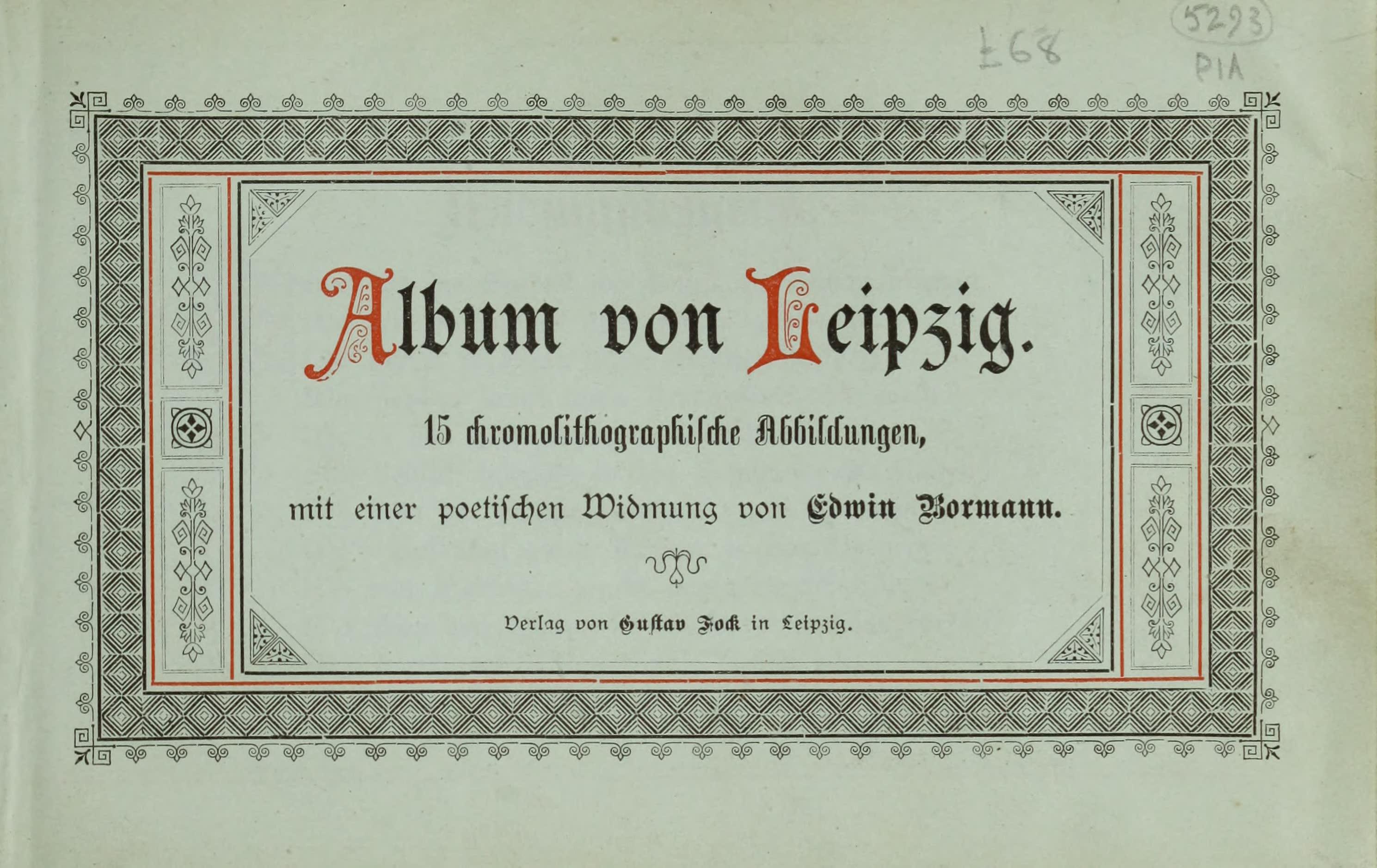 Album von Leipzig - Title Page (1884)