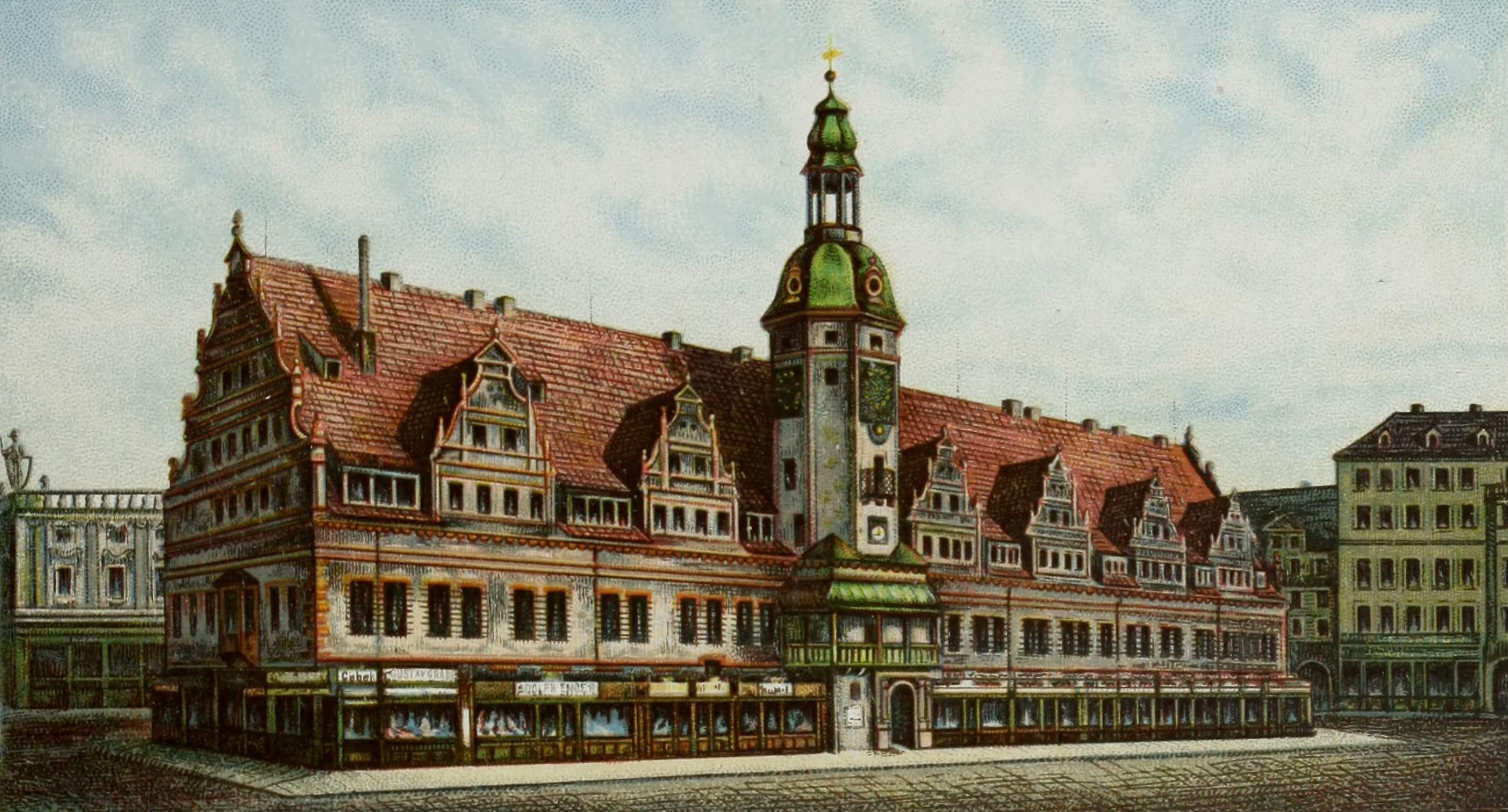 Album von Leipzig - Rathhaus (1884)