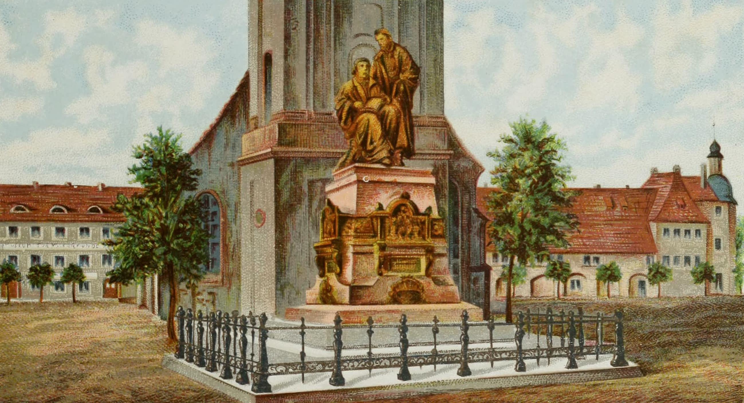 Album von Leipzig - Reformationsdenkmal (1884)