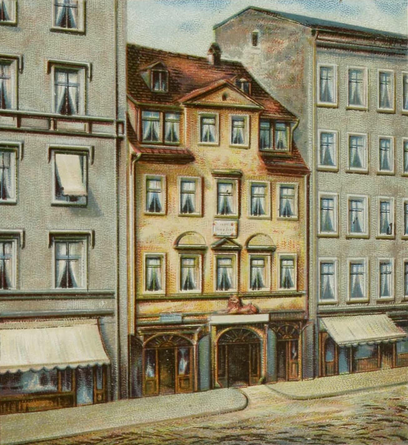 Album von Leipzig - Richard Wagners Geburtshaus (1884)