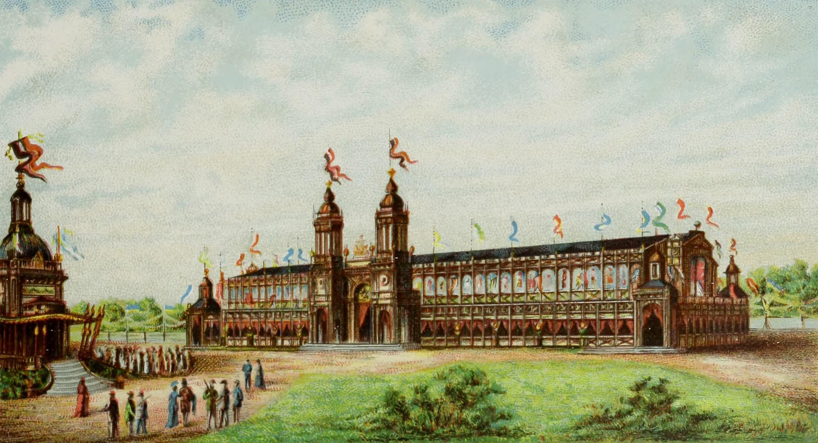Album von Leipzig - Festhalle des VIII. deutschen Bundesschiessens (1884)