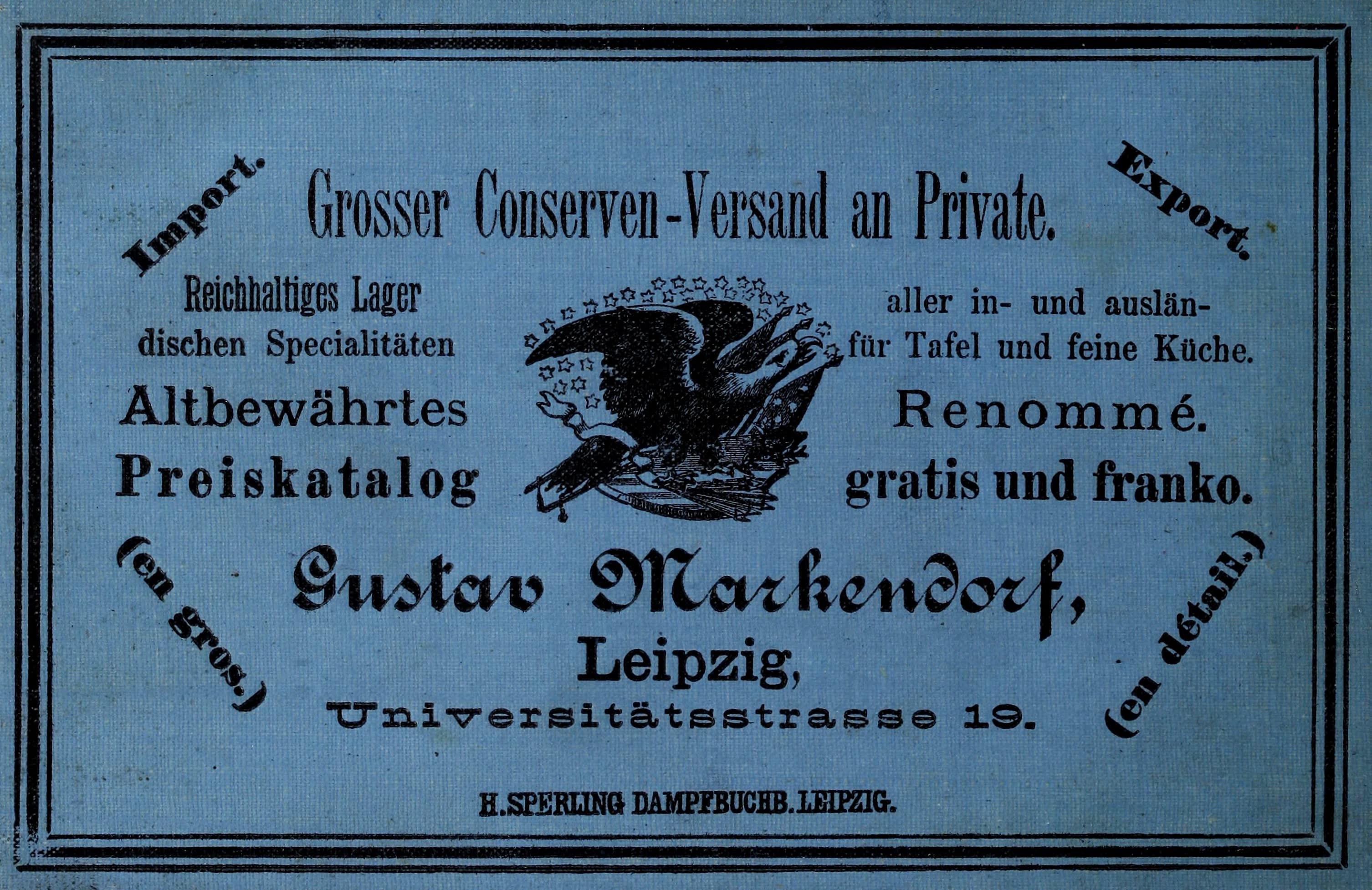 Album von Leipzig - Back Cover (1884)