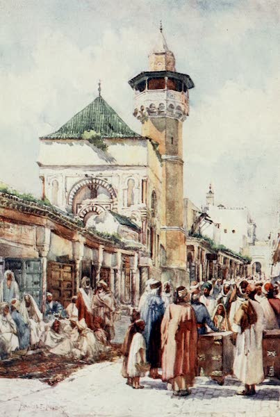 Algeria and Tunis, Painted and Described - Mosque of Sidi Ben Ziad, Tunis - the Auction Day (1906)