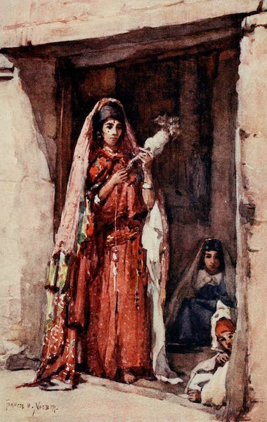 Algeria and Tunis, Painted and Described - Spinning (1906)