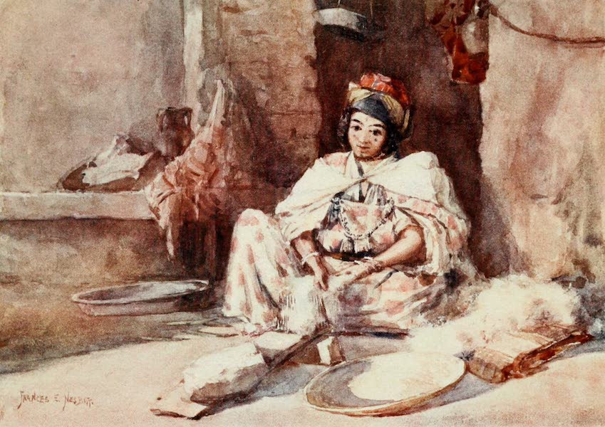 Algeria and Tunis, Painted and Described - Carding Wool (1906)