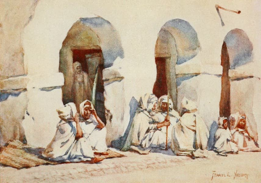 Algeria and Tunis, Painted and Described - In the Market-Place, Biskra (1906)