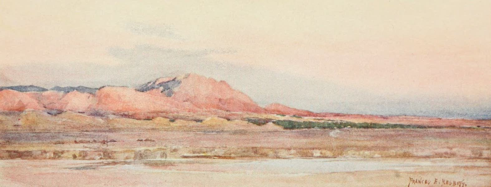 Algeria and Tunis, Painted and Described - Evening on the Sahara (1906)