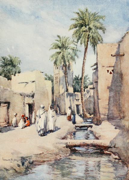 Algeria and Tunis, Painted and Described - A Village Street, Biskra (1906)
