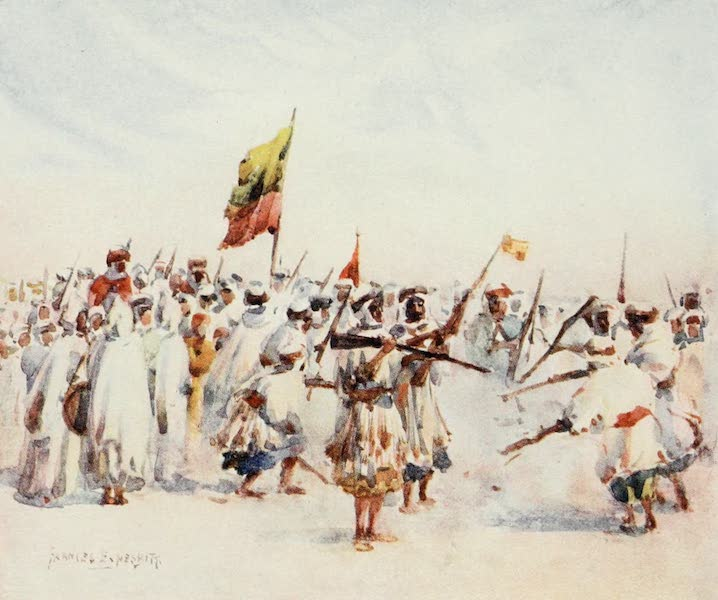Algeria and Tunis, Painted and Described - A Mozabite Fantasia (1906)