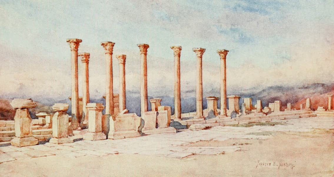 Algeria and Tunis, Painted and Described - The Forum, Timgad (1906)