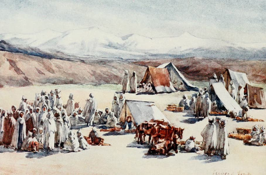 Algeria and Tunis, Painted and Described - Market Day, Timgad (1906)