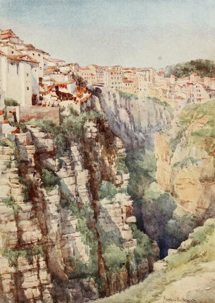 Algeria and Tunis, Painted and Described - Gorge of the Roumel, Constantine (1906)