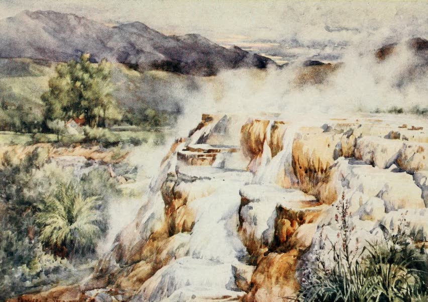 Algeria and Tunis, Painted and Described - The Silent Waterfall, Hammam Meskoutine (1906)