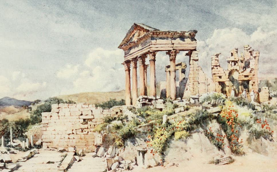 Algeria and Tunis, Painted and Described - Temple of Celestis, Dougga (1906)