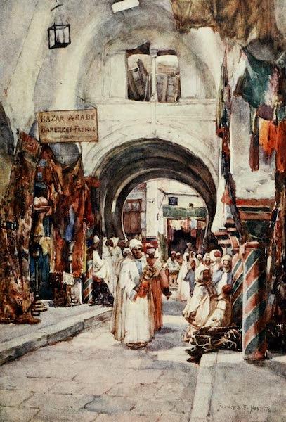 Algeria and Tunis, Painted and Described - Souk des Etoffes, Tunis (1906)