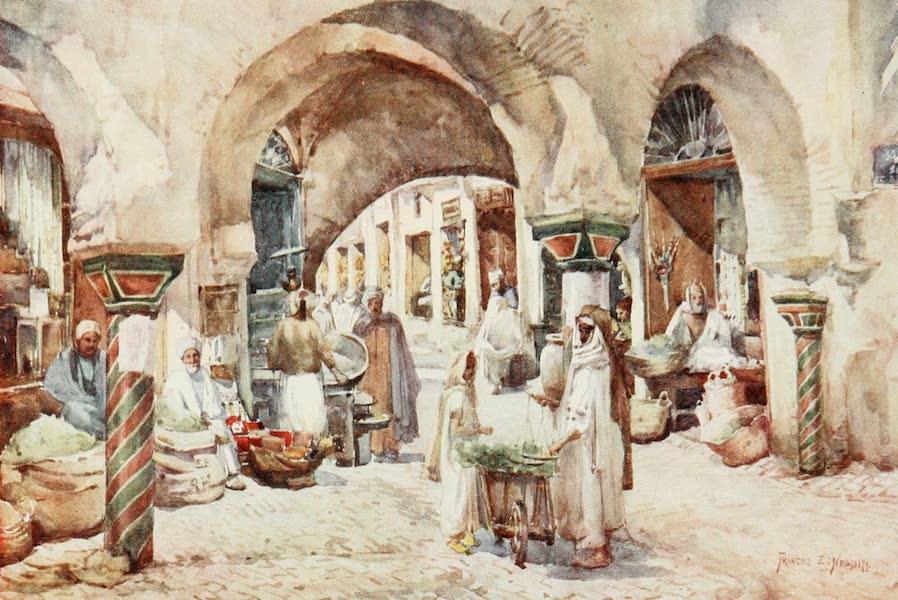 Algeria and Tunis, Painted and Described - Souk el Attarin, Tunis (1906)