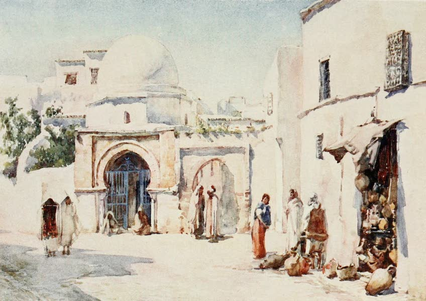 Algeria and Tunis, Painted and Described - The Zaouia of the Rue Tourbet el Bey, Tunis (1906)