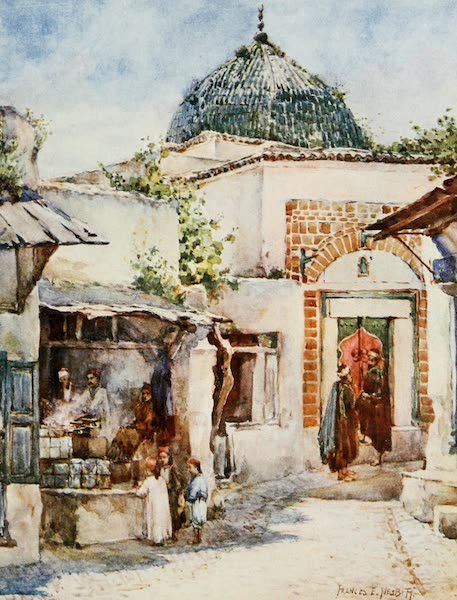 Algeria and Tunis, Painted and Described - The Fritter Shop, Tunis (1906)
