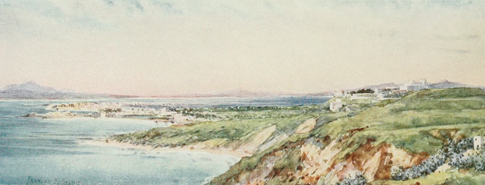 Algeria and Tunis, Painted and Described - The Site of Carthage from Sidi Bou Said (1906)