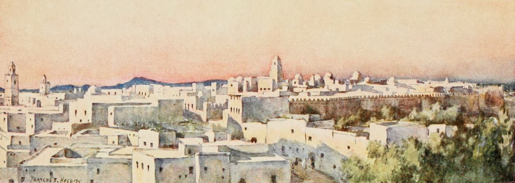 Algeria and Tunis, Painted and Described - Evening, Kairouan (1906)