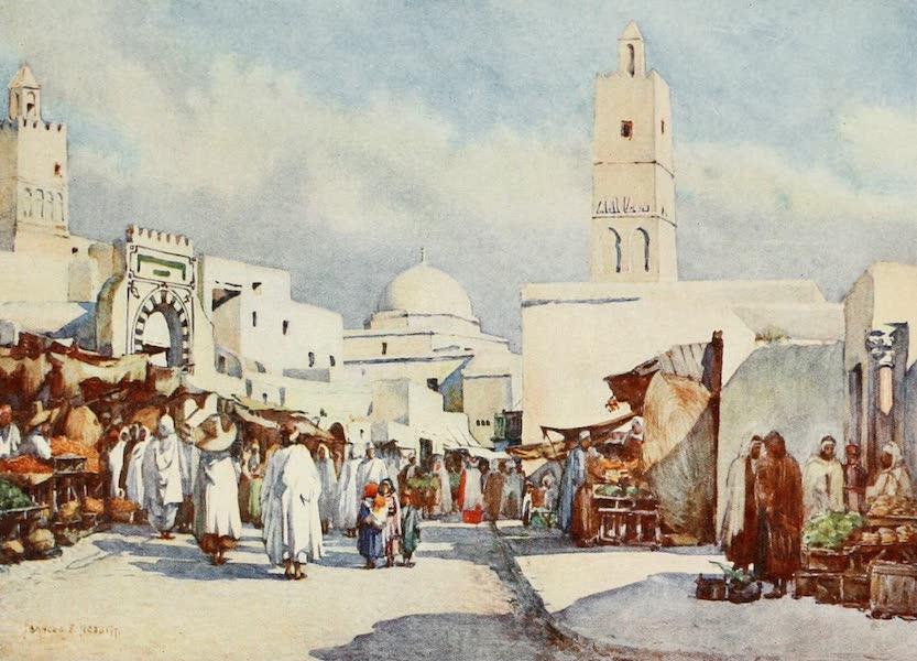 Algeria and Tunis, Painted and Described - La Grande Rue, Kairouan (1906)