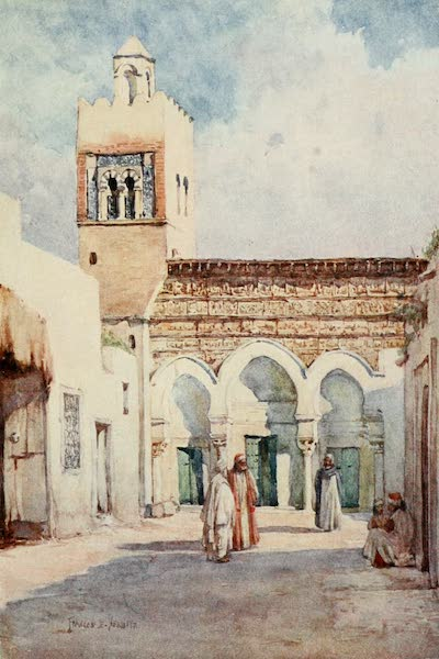 Algeria and Tunis, Painted and Described - The Mosque of the Three Doors, Kairouan (1906)