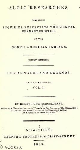 Algic Researches Vol. 2 (1839)