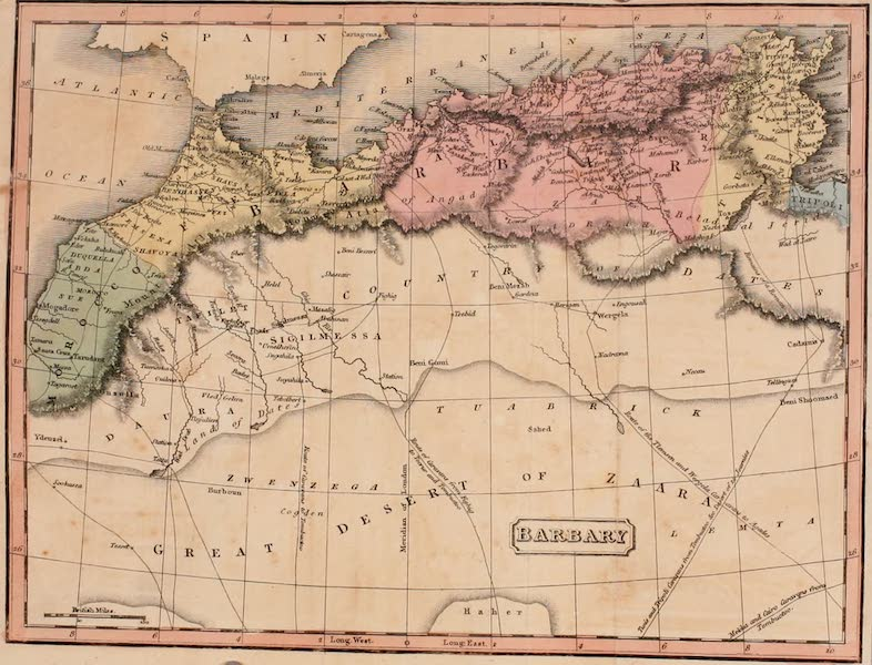 Algiers: Being a Complete Picture of the Barbary States - Map of Barbary (1817)