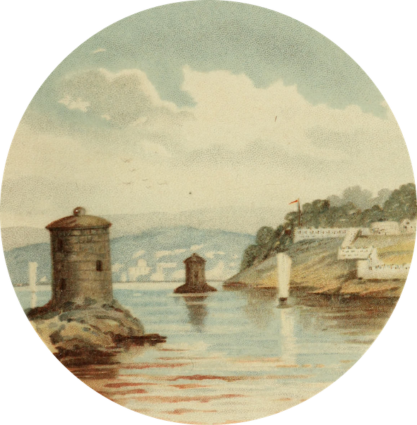Along the Banks of the St. Lawrence River - Martello towers and Battery (1885)
