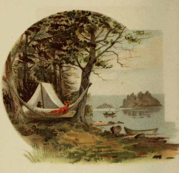 Along the Banks of the St. Lawrence River - Camping Out (1885)