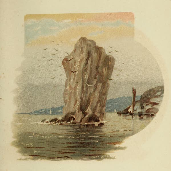 Along the Banks of the St. Lawrence River - Perce Rock (1885)
