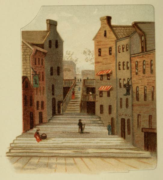 Along the Banks of the St. Lawrence River - Breakneck Stairs (1885)