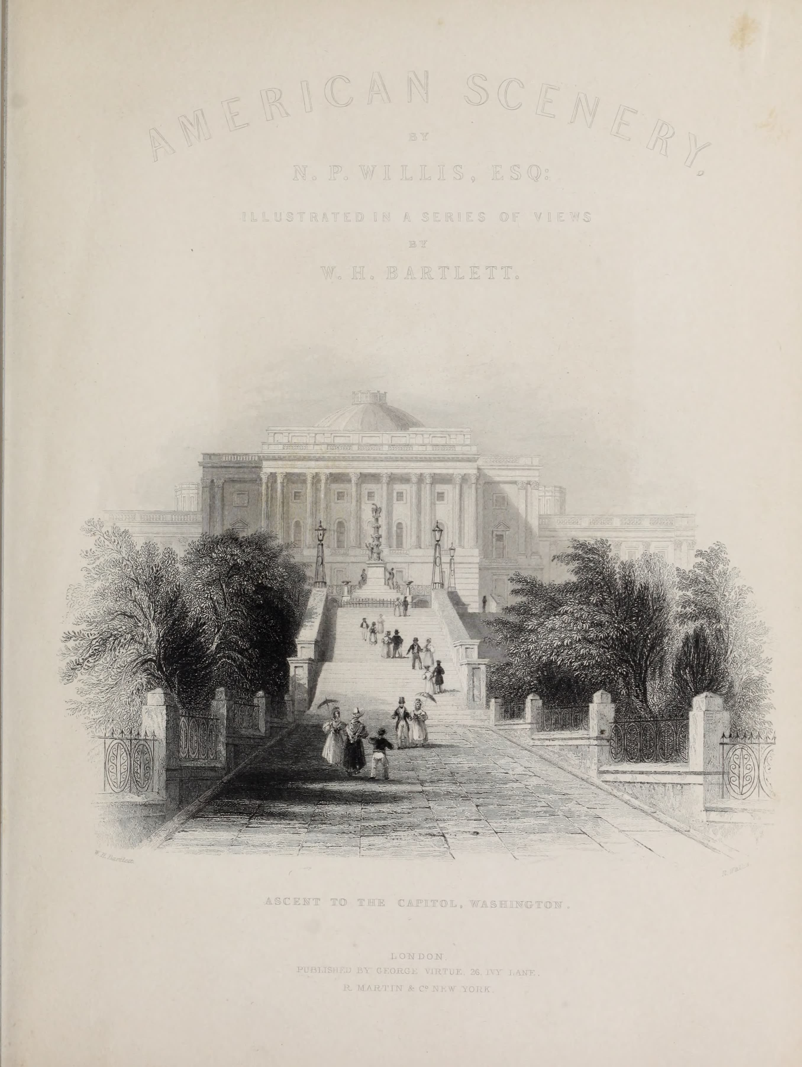 American Scenery Vol. I - Illustrated Title Page (1840)