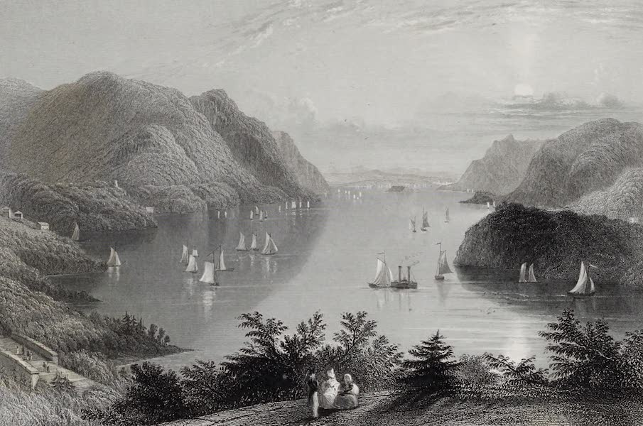 American Scenery Vol. I - View from West Point (Hudson River) (1840)
