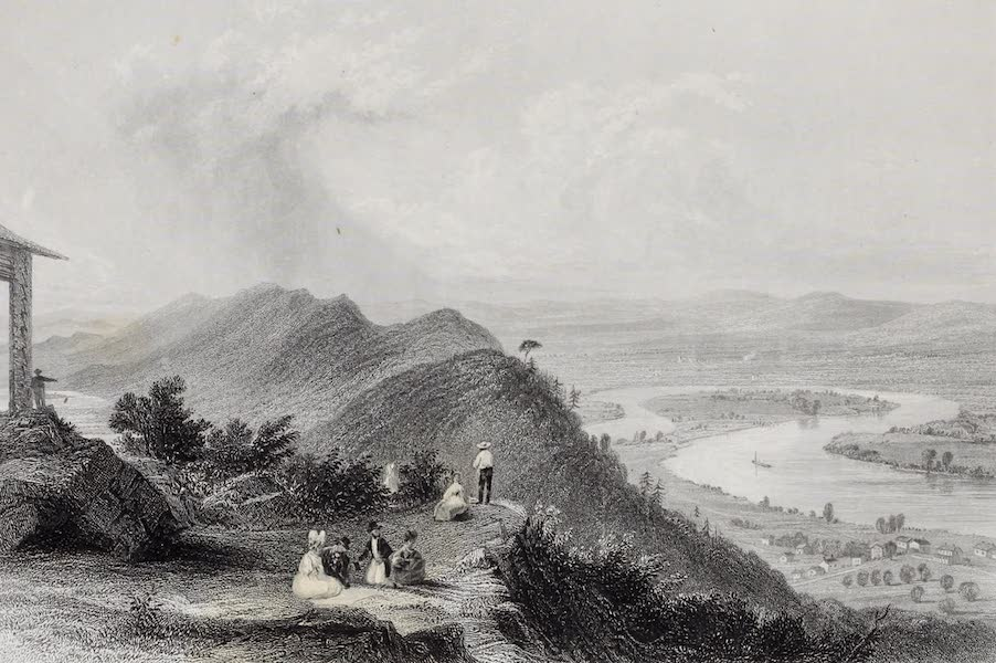 American Scenery Vol. I - View from Mount Holyoke (1840)