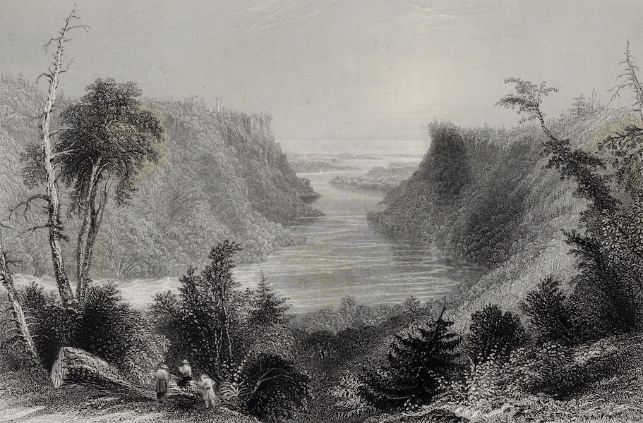 American Scenery Vol. I - The Outlet of Niagara River (Lake Ontario in the Distance) (1840)