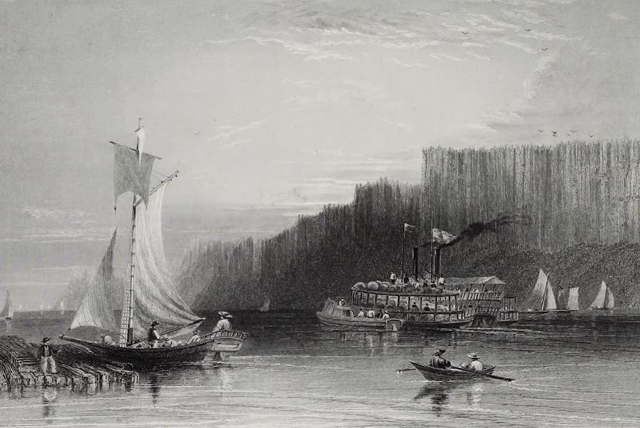 American Scenery Vol. I - The Pallisades - Hudson River (1840)