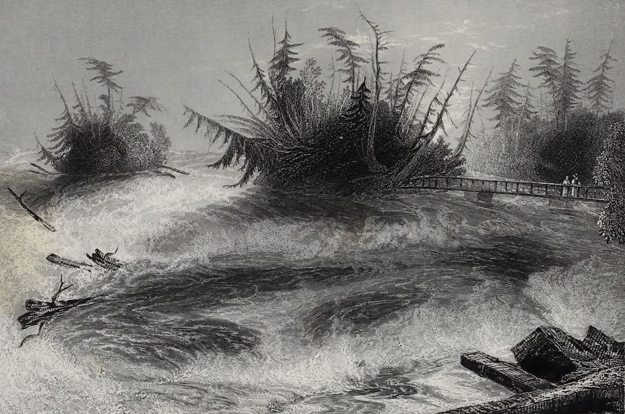 American Scenery Vol. I - The Rapids above the Falls of Niagara (1840)
